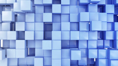Seamless Looping Abstract Cubes Background Stock Footage