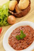 hot chili con - stock photo