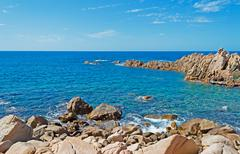 blue sky over costa paradiso - stock photo
