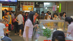 Inside store at fenjia night market in taichung Stock Footage
