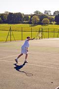 Tennis - Overhead Smash - stock photo