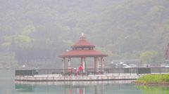 Close shot of the pagoda at sun moon lake Stock Footage