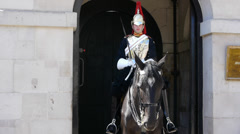 Royal Horseguard in Central London Stock Footage