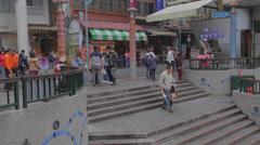 People walk at shueshe pier 3 Stock Footage