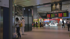 Pan at the taichung high speed rail station Stock Footage