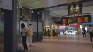 Stock Video Footage of pan at the taichung high speed rail station
