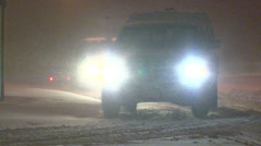 Blizzard snow wind and cold weather in major winter storm Stock Footage