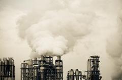 Dirty savua ja saasteita tuottanut tehdas Kuvituskuvat