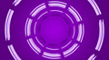 Turning circle on purple background, loop Footage