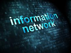Data concept: Information Network on digital background - stock illustration