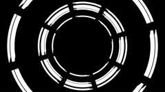 White circles on black background, loop Stock Footage
