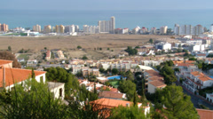 Panright on Peniscola from mountain Stock Footage