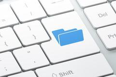 Business concept: Folder on computer keyboard background Stock Illustration