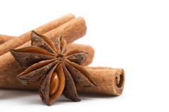 Anise and cinnamon Stock Photos