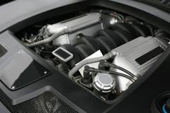 engine of powerful car - stock photo