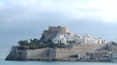Timelapse over fortress castle by the seaside Stock Footage