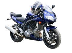 Dark blue motorcycle. Stock Photos
