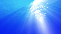 4K Underwater 40 seconds LM01 Loop Sunlight - stock footage