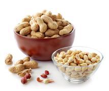 various peanuts - stock photo