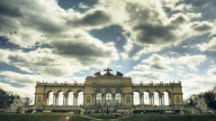 Time lapse of the Gloriette castle in Vienna Stock Footage