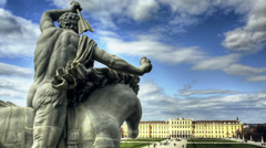 Time lapse of the schonbrunn castle in Vienna - stock footage