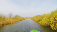 Stock Video Footage of Danube Delta channels recorded from boat - protune