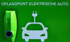 Charge point for electric cars. Stock Photos