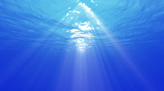 4K Underwater 40 seconds LM03 Loop Sunlight Stock Footage