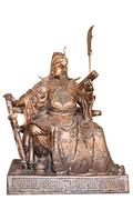 chinese legend of the god's statue isolated on white background,with clipping - stock photo