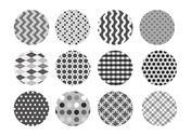 Stock Illustration of set of black and white wallpaper patterns
