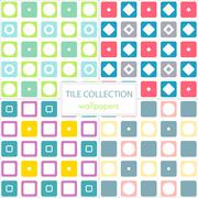 wallpaper, green, brown, yellow, circle, pink, purple, collection, colors, blue, - stock illustration