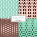 Stock Illustration of set of polka dots wallpapers
