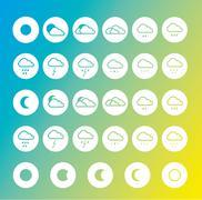 Weather forecast icon set Stock Illustration