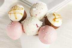 Homemade gourmet cakepops Stock Photos