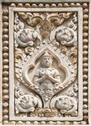 sculpture thai style molding art in the temple,thailand. - stock photo