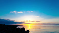 Sunset over the Gulf of Finland  - March 2014 Stock Footage