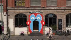 Berlin Trendy Honolulu bar in Friedrichshain Stock Footage
