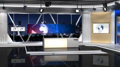 NewsStudio 100C2(Shift right) Stock Footage