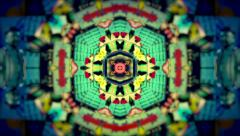 Colorful Glowing Kaleidoscope Background Stock Footage