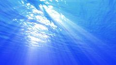 4K Underwater 40 seconds LM06 Loop Sunlight - stock footage