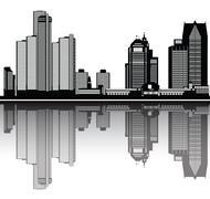 Detroit heijastavat Piirros