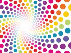 circular background made ??up of colored dots to be lost - stock illustration