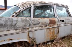 White sedan Stock Photos