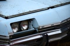 hidden headlights - stock photo