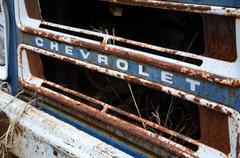 chev van grille - stock photo