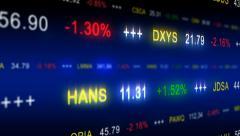 stock market data - stock footage