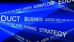 Business words cross Stock Footage