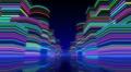 Neon Light City F1Bb2 4k Footage