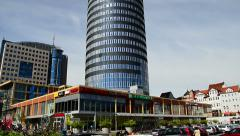 Intershop Tower in Jena Germany Stock Footage