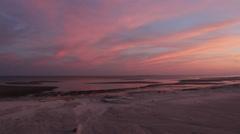Gulf of Mexico Shoreline Sunset Stock Footage